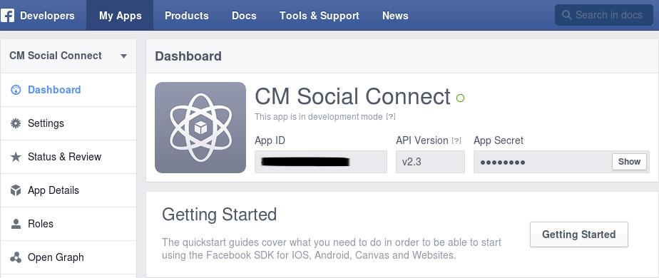 Facebook integration — CM Social Connect 1 0 0 documentation